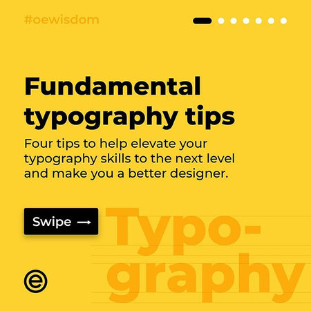 Fundamental typography tips . . . Four tips to help elevate your typography skills to the next level and make you a better designer. . . . #oewisdom #designthinking #typography #thinkingwithtype #grid #type #font #designer #graphicdesign #designtips #design #ui__ux #vanila.design #ux_store #wireflow